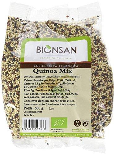 Bionsan - Quinoa Tricolore Biologique Blanc, Noir et Rouge, 500 g