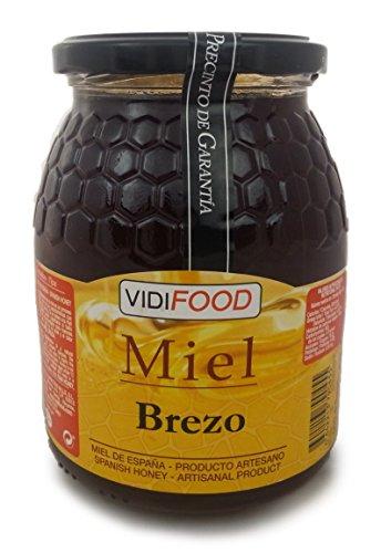 Miel de Brezo - 1kg - Producida en España - Alta Calidad, tradicional & 100% pura - Aroma Intenso y Sabor Rico y Dulce - Amplia variedad de Deliciosos Sabores