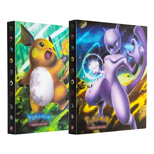 erlliyeu 2er Pack Sammelkarten,Sammelalbum, Karten Album, Karten Halter, Bester Schutz für Pokemon Sammel Karten GX EX Karten Album, 60 seitig Kann bis zu 480 Karten aufnehmen