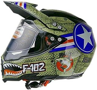 Woljay Dual Sport Off Road Motorcycle helmet Adventure Touring Dirt Bike ATV & UTV DOT Certified (L)