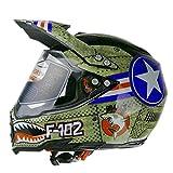 Woljay Dual Sport Off Road Motorcycle helmet Adventure Touring Dirt Bike ATV