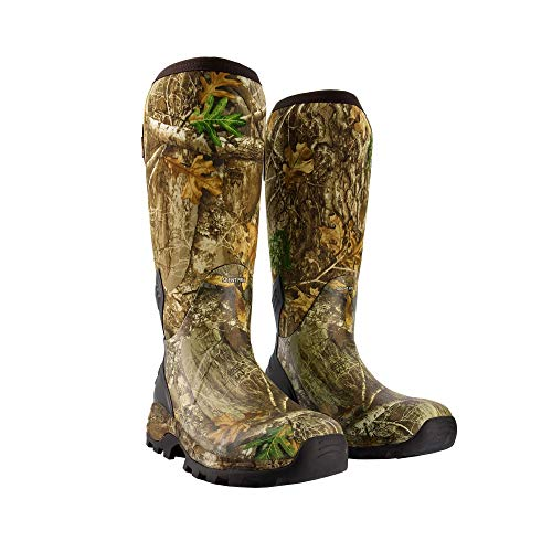 HUNTSHIELD Men's Neoprene Muck Boot   Insulated Waterproof Rubber Hunting Boot   Size 9 Camouflage