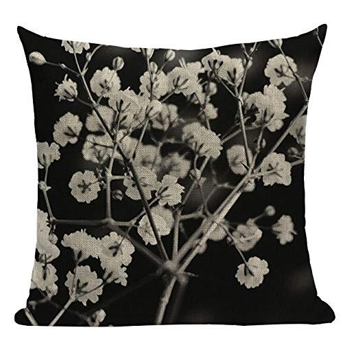 Almohada de Almohada de Estilo Simple Almohadas Decorativas geométricas para sofá Casas Casas Black White Woven Woven Funda de Almohada-GRAMO_2pc