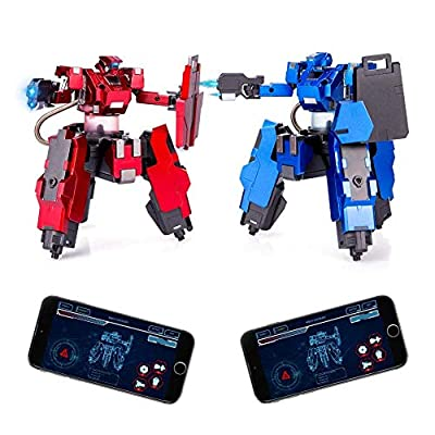 Feeleye Remote Control Battle Robot?APP(Android and iOS) Remote Control Desktop Boxing Robots for Kids
