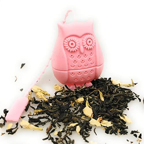 Kerafactum Tee Filter Sieb Tea Teebrüher Teesieb extra feiner Teefilter   Silikon geeignet für Trinkflaschen Flaschen Thermosflaschen   mit Teefilter & Halteband für Thermoskannen Auflage Halter