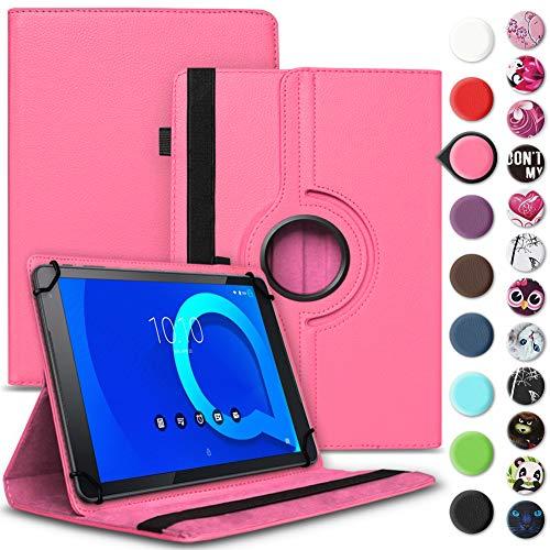Tablet Hülle kompatibel für Alcatel 1T 10 Tasche Schutzhülle Hülle Schutz Cover 360° Drehbar 10.1 Zoll Etui, Farbe:Pink