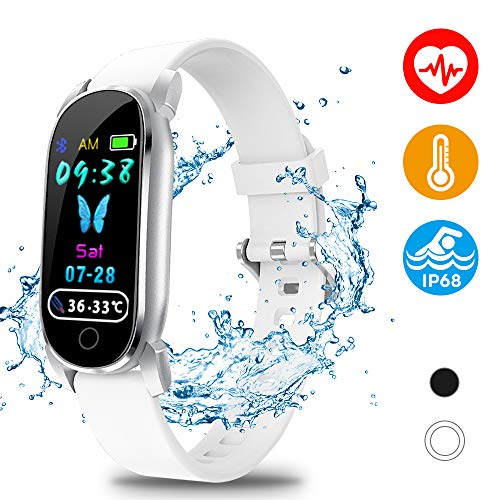 Nalite Fitness Tracker, IP68 Waterproof Activity Tracker Smart Watch with Blood Pressure Heart Rate Sleep Body Temperature Monitor Multiple Sport Modes for Men Women and Kids