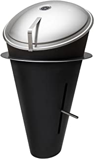 höfats - CONE Holzkohle-Grill und Feuerkorb mit Deckel - Einbau Version - stufenlose Hitzeregulierung - Design-Grill aus Edelstahl - schwarz