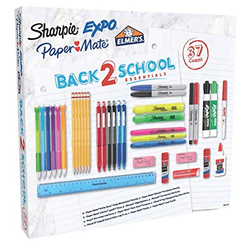 Sharpie Expo Paper Mate 2087183 Back 2 School Essentials 37 Piece Kit