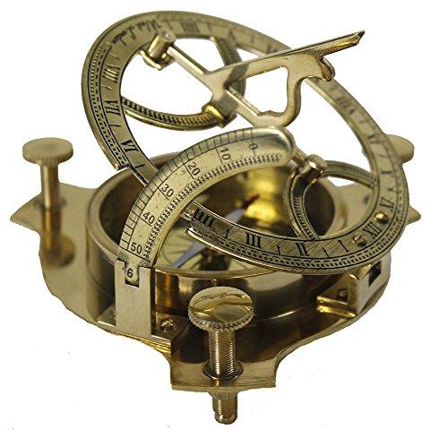 Zap Impex ® latón Reloj de Sol Funcional Brújula 4 Pulgadas