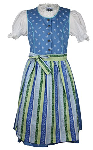 Isar-Trachten Kinderdirndl Sandra Set 3-TLG (110, blau)