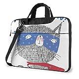 Nette Katze Ich Bin Super Hero Laptoptasche Notebook Computer Schutzhülle Anti-Kratzer Handtasche Umhängetasche für School College