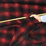 kawenSTOFFE Wollflausch schwarz rot Schottenkaro groß Soft