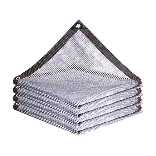 SSHA Lona Toldo ALUMINET Shade Shade Shade BAELS 55% Anti-UV Aluminio de Aluminio Shade Paño Patio Balcón Balcón Coche Planta Aislamiento Neto Malla Sombra (Color : A, Size : 3x3m)