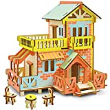 3D Wooden Puzzles for Kids, 73Pcs DIY Cute Cottage Simple 3D Puzzles for Girls 10-14 Years Old, Great Gifts for Daughter, Niece, Granddaughter