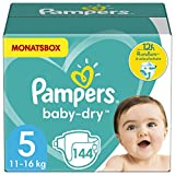 Pampers Baby Dry Windeln, 5 (11-16 kg), 144 Stück