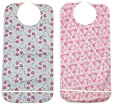 Personal Touch Ladies Adult Bib with Crumb Catcher Size 18x36 Pack of (Snap Closure, Pack of 2)