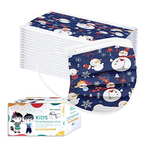 50Piezas niño Protección Tie Dye impresión no tejida Desechable con Elástico Banda para Los Oídos,20201118-Groveerble-01742