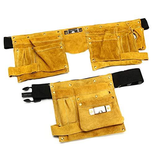 XCQ Leder Elektriker Werkzeug Taille Tasche 8/14 Taschen Tischler Elektriker Werkzeug Beutel...