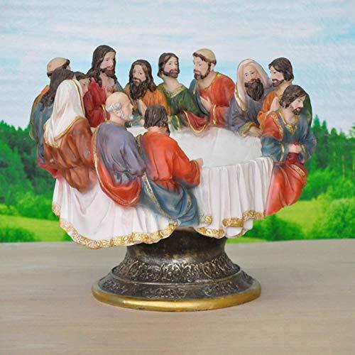 LYTBJ Exquisito Arte Moderno Navidad Jesús estatuilla artesanías hogar Sala de Estar Festival Estatua decoración 38x33,8x30 cm Figura Estatua