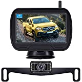 Rohent 720P HD Digital Wireless Backup Camera,Hitch Rear View Camera with Monitor Kit for Cars, Pickups,Trucks,Small RVs Adjust Front/Rear View with Super Night Vision Camera IP69K Waterproof-R11
