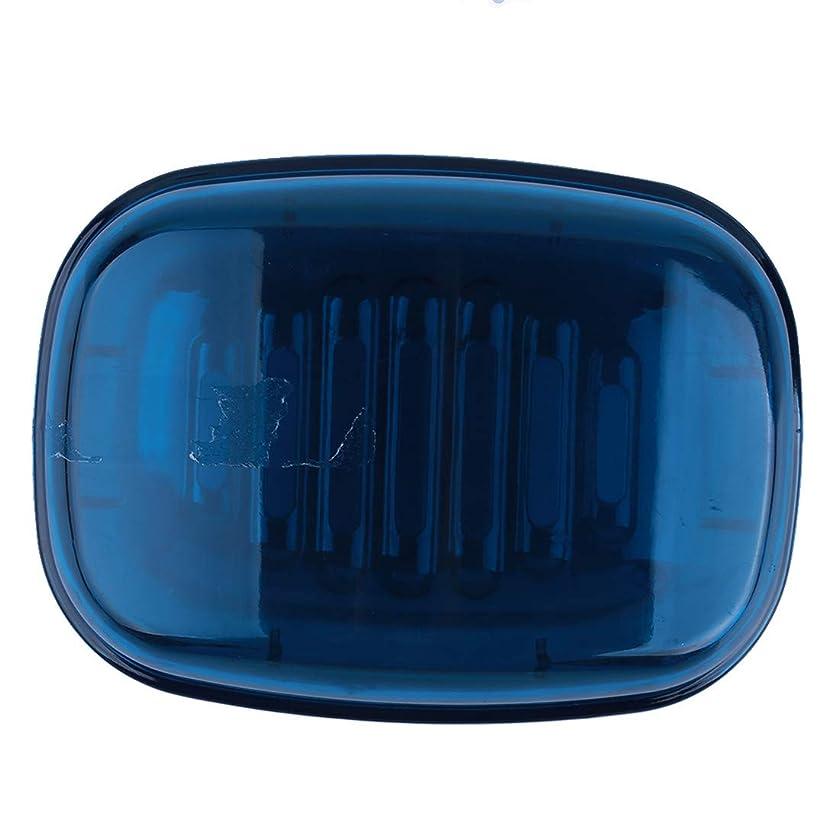 顔料実業家リムVWH ふた浴室の方法プラスチック石鹸ディスペンサー創造的な石鹸箱(ブルー)