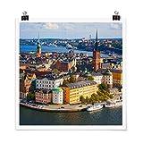 Bilderwelten Poster Stockholm in Schweden Quadrat,