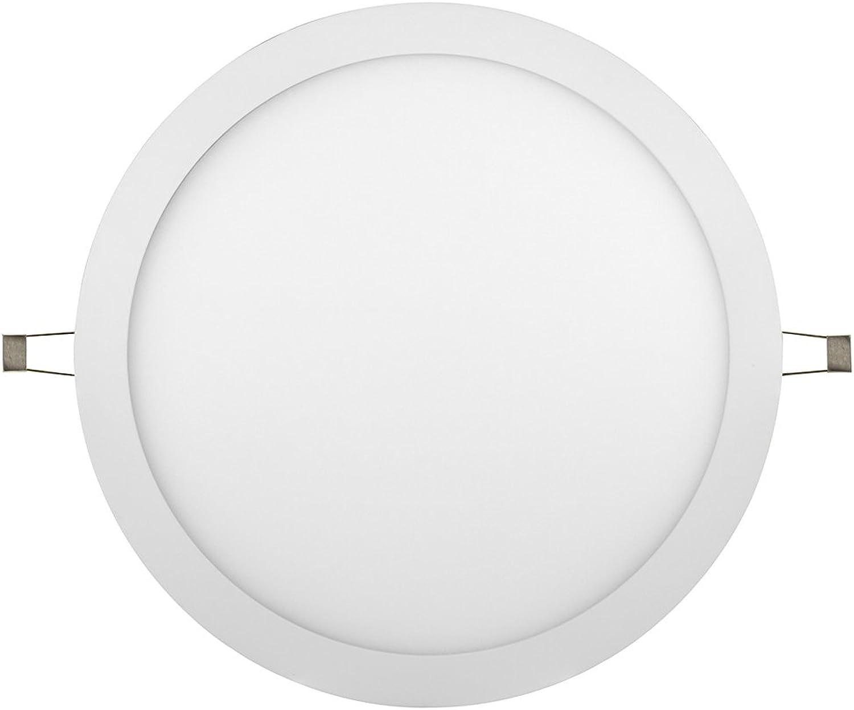 LED Downlight Anbauleuchte Deckenleuchte Einbauleuchte DL-R-300 AW-d-25W-dw tageslichtwei, set RL 019037 Dimmbar 25W (EEK  A) IP40 wei (tageslichtwei)