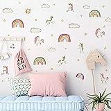 DSSK Ins Nuevo Unicornio Bohemio arcoíris Pegatina de Pared autoadhesiva para habitación de niños DIY decoración Pegatina Nube Estrella Pegatina