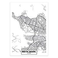 アートポスター 世界の市街地図キャンバスウォールアートオランダトルコアイスランドシティポスターとプリントリビングルームの家の装飾のための装飾的な写真 (Color : 18, Size : 15x20cm No Frame)