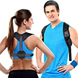 Aroamas Posture Corrector for Women & Men, Relieves Upper Back & Shoulders Pain, Corrects Slouching, Hunching & Bad Posture, Clavicle Support Adjustable Brace, Chest 28'-47'