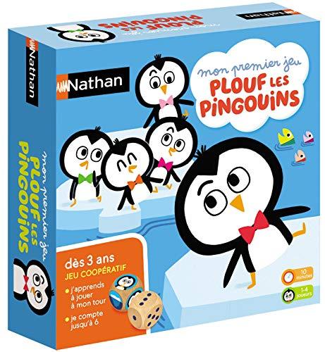 Nathan- Plouf Les Pingouins-Jeu coopératif dès 3 Ans, 31162