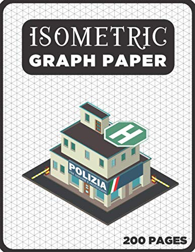 Isometric Graph Paper Pad Notebook 1/4 Inch: Orthographic Paper for Drafting, 200-Page Equilateral Triangle Grid 1/4 Inch, A4 Isometric Grid Paper Sketch Book, Civil Engineering Gifts for Men