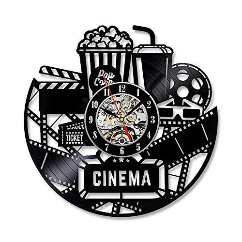 MingXinJia Relojes de Cabecera para el Hogar Reloj de Pared con Disco de Vinilo - Decora Tu Hogar con Estilo Moderno - Regalo para Hombres Y Mujeres, Niñas Y Niños, 30 CmUNA