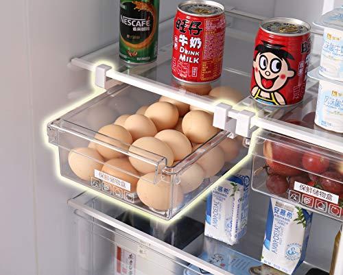 HapiLeap Kühlschrank-Organizer Schubladenorganizer Einzigartiges Design Pull Out Behälter für Kühlschrank Aufbewahrungsbox Haus Organizer 1 Stück.