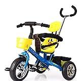 CAR SHUN Tricycle pour Enfants avec Poignée - avec Siège pour Enfant De 1 À 6 Ans,Blue