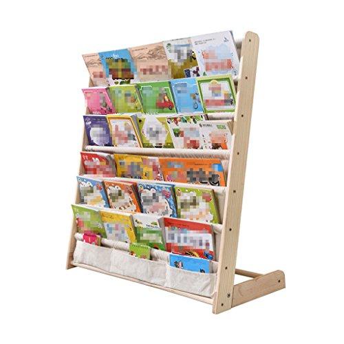 Li Li Na Shop Bücherregale Kinder Bücherregal Massivholz einfache Kindergarten Cartoon Schüler sparen Platz multifunktionale Boden Bücherregal Baby Bücherregal Storage Bücherregal (Size : 75cm)