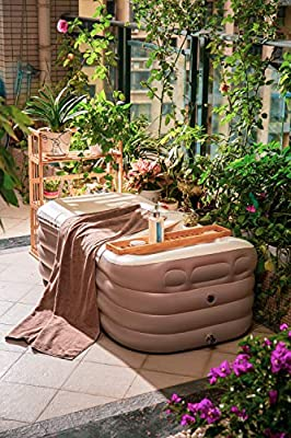 ThermaeStudio Mobile bathtub,Inflatable bathtub -SPA bathtub - Foldable,Portable,Freestanding | with Electric Air Pump | Designed in Rome
