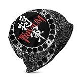 ZhangLinFu Beanie Hat Trivium Heavy Metal Band Bonnet en Tricot à Revers Mince Casquette de crâne pour garçons Filles Noir