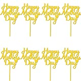 Trounistro 8 Piececs Mother's day Cake Topper Acrylic Happy Mother's Day Cupcake Topper for Happy Birthday Mother's day Cake Party Decoration