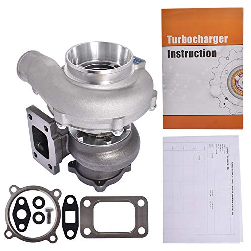 labwork GT3076 GT3037 Universal Turbo Turbocharger .82 A/R .60 4-Bolt T3 Flange Floating Bearing Replacement for all 6/8 cyl 3.0L-5.0L Engines GT30 Turbo Charger