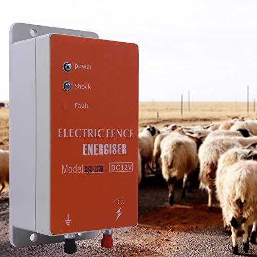 Clôture électrique, clôture électrique solaire pour Animaux Clôture Électrique Contrôleur de Vache Moutons Cheval Cerf Ours Cochon Chèvre Chien Poulet 10KM