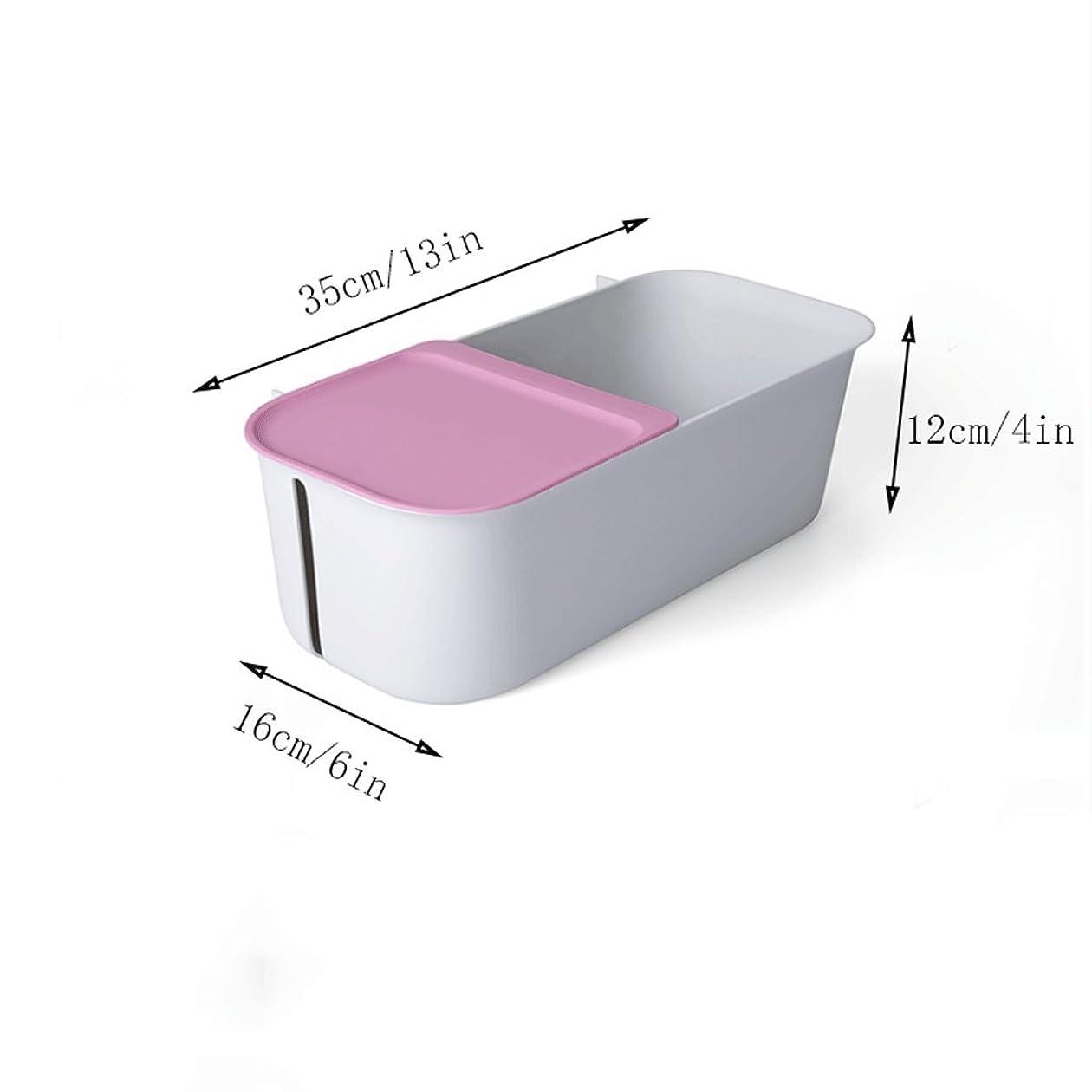 どれでもディーラーチャンピオンYXN プラスチック製のバスルームシェルフサクションウォールキッチンシェルフネイルフリーサクションカップ収納ラック収納ボックス (色 : グレー)