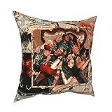 Cr-uella de Vil Mal Jay uma Fashion Book Cameron Boyce Descen-dants 3 Royal Wedding Fantasy UK fundas de almohada para niños con repuesto para sala de estar, juego de cama de 30,5 x 30,5 cm