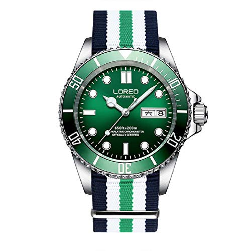 CQOQ Hombres S De Buceo Classic Series Relojes Mecánicos 200m Impermeable De Lujo De Acero Inoxidable Reloj De La Marca Hombres Relogio Masculino (Color : Colour 6)