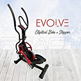 Reach Evolve Elliptical Climber Cross Trainer + Stepper | Best Exercise Fitness Equipment for Home Gym (Wool Felt)