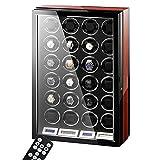Cajas Giratorias para Relojes 24 Relojes Automático Estuche Bobinadora con Tranquilo Motor Y LCD Pantalla Táctil Girar Monitor Almacenamiento Caso