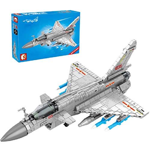 CYGG Kits de construcción de Aviones de Luchador técnico, Modelo de avión de Bombardero Coleccionable, Bloque de construcción de 820pcs Compatible con Lego