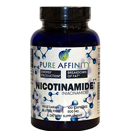 B3 Nicotinamide 500 mg Effective Flush-Free Niacin. Energy Booster, Cell Regenerator, That Supports Cognitive Decline, Anti-Aging and Helps Breaks Down Carbs & Fats (100 Count))