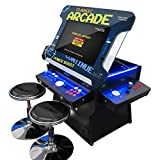 Creative Arcades Full Size Commercial Grade Cocktail Arcade Machine | Trackball | Three-Sided | 1162 Classic Games | 4 Sanwa Joysticks | 2 Stools | 3 Year Warranty | 26' Lifting Screen